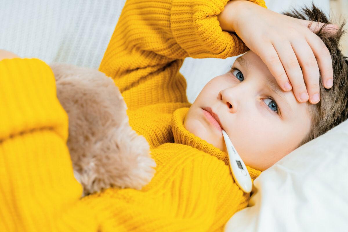 fièvre d'un enfant